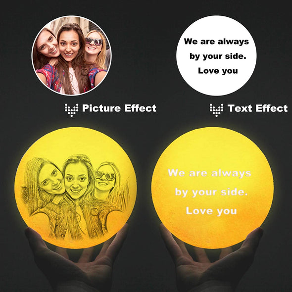 Personalized Mothers Gifts With 3D Moon Lights - amlion