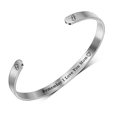 Inspirational Bracelets for Women Mom ,Cuff Bangle Bracelet for Mother's Day - amlion