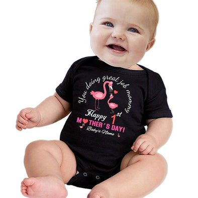 Personalized Baby Bodysuit, Custom Baby Onesies for Boy Girl, First Mothers Day Gifts