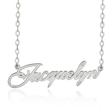 Personalized Necklace,Custom Name Necklace 925 Sterling Silver,Silver - amlion