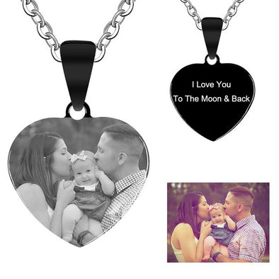 Mothers Day Gifts Personalized Necklace, Custom Photo Necklace Gift For Mom - amlion