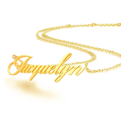 Personalised Name Necklace for Women -Custom Name Necklace Personalized Gifts-Gold