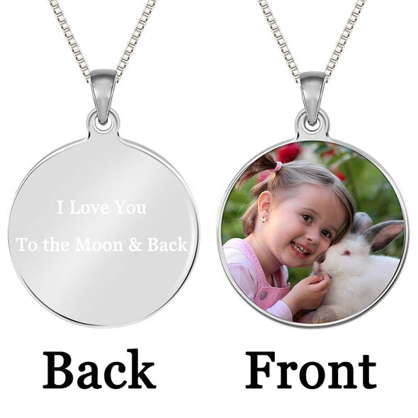 Personalized Necklace,Tag Necklace Custom Photo Necklace,Heart Necklaces for Women,Keychain Ring Personalized Gifts