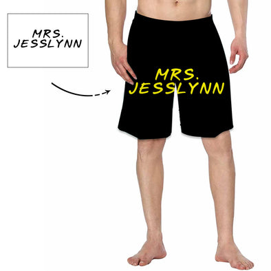 Personalized Text or Name For Men's Swimtrunk