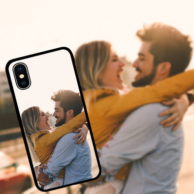 Custom iPhone X Cases iPhone Cover Personalized Custom Picture CASE Make Your Own Phone Case (Black, iPhone X) - amlion