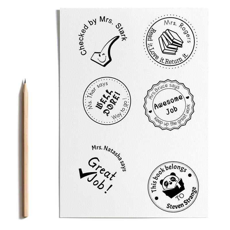 Custom Rubber Stamps Self Inking Stamps Personalized Teacher Library Book Stamps 1 5 8