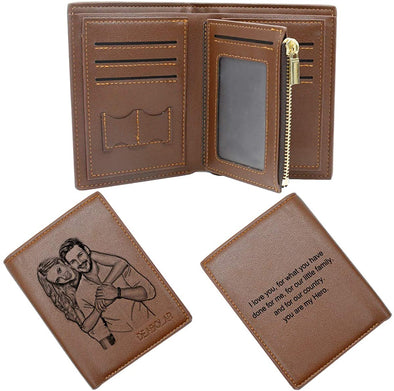 Personalized Photo Leather Custom Wallets for Men