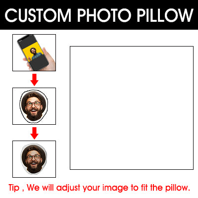 Custom Personalized Pillow with Picture Photo Gifts for Men Women Fathers Day