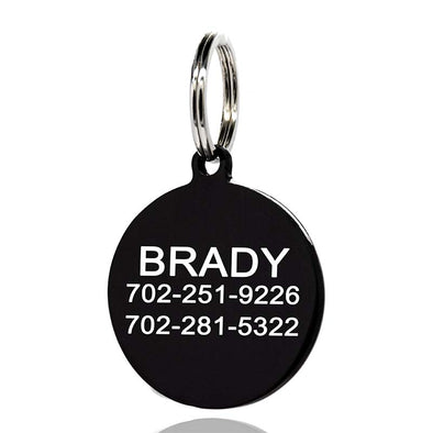 Personalized Engraved Dog Tag,Stainless Steel Personalized Dog Tag & Cat Tag -Engraved Pet Tags - amlion