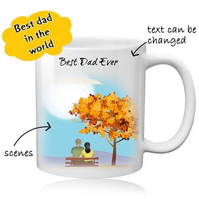 Personalized Dad Photo Coffee Mug - Best Gift For Best Dad - amlion