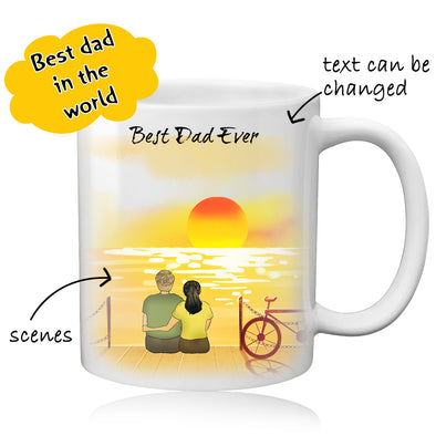 Custom Best Dad Photo Coffee Mug - amlion