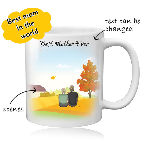 Personalized Mom Photo Mug - Best Gift For Best Mom - amlion