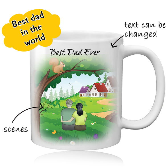 Personalized Dad Photo Coffee Mug for Father - amlion