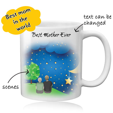 Custom Mom Photo Mug - Best Gift For Best Mom - amlion