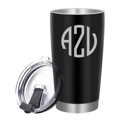 Personalized Mug Tumbler Stainless Steel 20 Oz with Lid Custom Mug Black - amlion