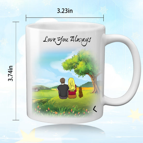 Personalized Couple and Dog Coffee Mug for Lover - amlion