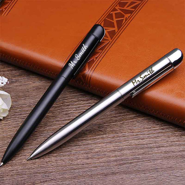 Amlion  Custom Engraved Pens Personalized Ballpoint Pen Personalized Gifts for Men Women Twist-Action-Silver - amlion