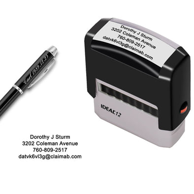 "Custom Stamp,Personalized Stamp,Up to 4 Lines,Self Inking Rubber Address Stamp for Business,Home,Return or Office-11/16"" x 1-7/8"" - amlion"