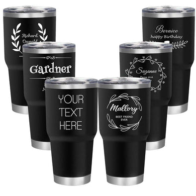 Personalized Engraved Tumbler Mug Stainless Steel 30 Oz Black - amlion