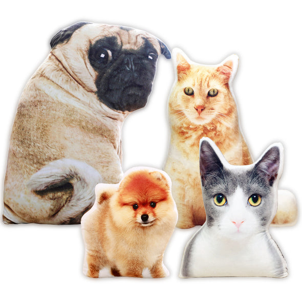 Custom Personalized Dog Cat Pet Pillow with Picture Photo Gifts for Fathers Day