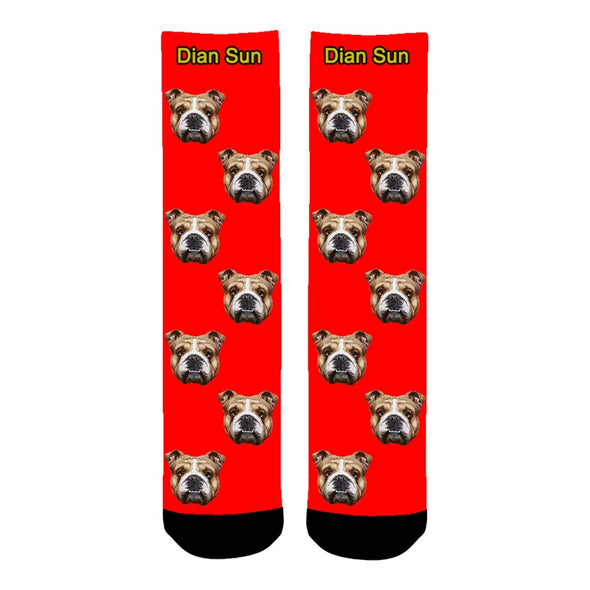 Photo Socks Personalized Funny Socks With Photo,Custom Face Socks Unisex - amlion