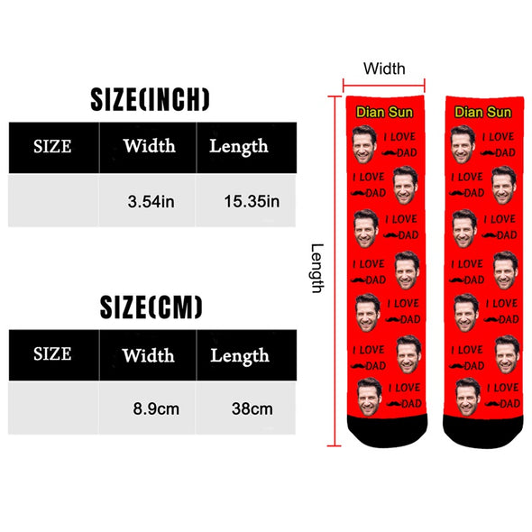 Custom Face Photo Socks Personalized Funny Socks With Photo Unisex - amlion