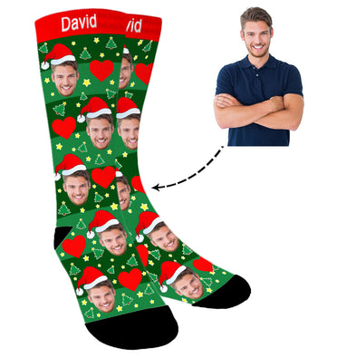 Photo Socks,Christmas Socks,Personalized Face Socks,Funny Socks for Men and Women - amlion