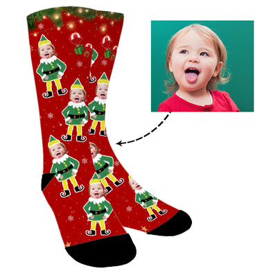 Photo Socks,Christmas Socks,Personalized Face Socks,Funny Socks Turn Photo into Socks for Men and Women - amlion