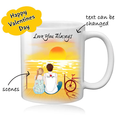 Personalized Couple Coffee Mug for Women Men Best Valentine's Day Gift - amlion