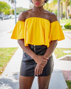 Mustard Crop Baby Doll Shirt