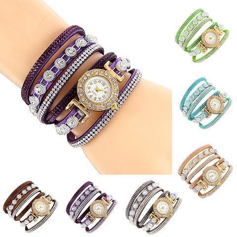 Fashion Casual  Rhinestone Ladies watch