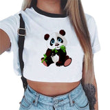 Summer Ladies Sexy Panda Print Top