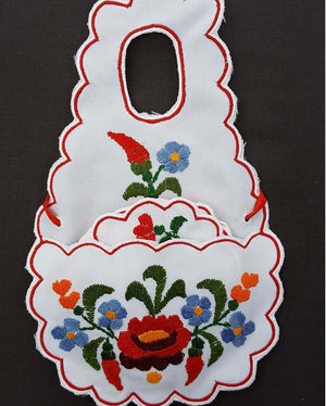 """Kalocsai"" glass colour apron 15cm x 24cm"