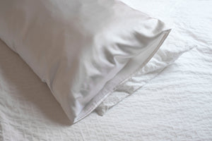 Shop Organic Silk Pillow Slip - Pearl White | Pillow Case| Made in Australia