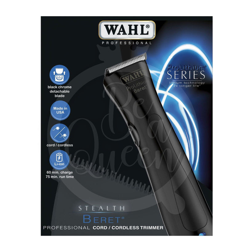 Beret Trimmer Black Stealth WAHL