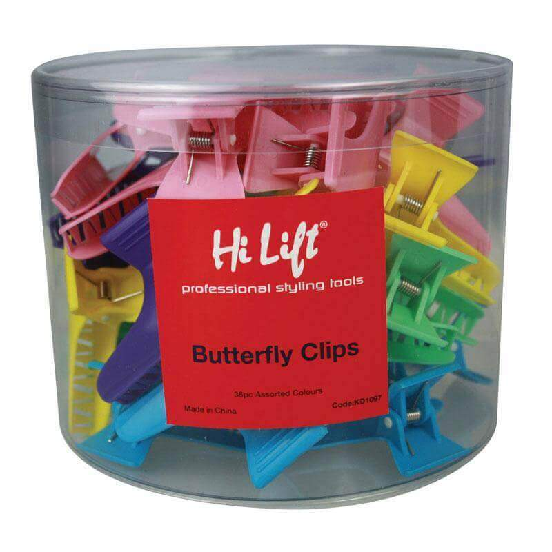 Butterfly Clips Assorted Colours 36 pcs