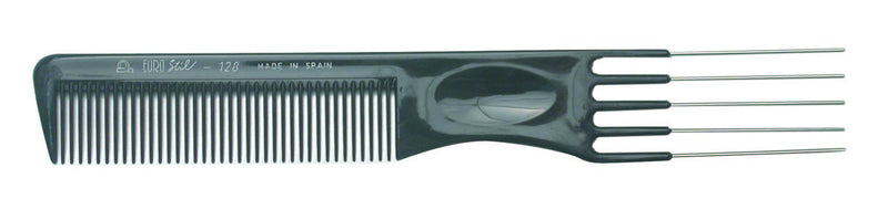 EuroStil Styling Comb with  Metal Lifters #128 190 mm