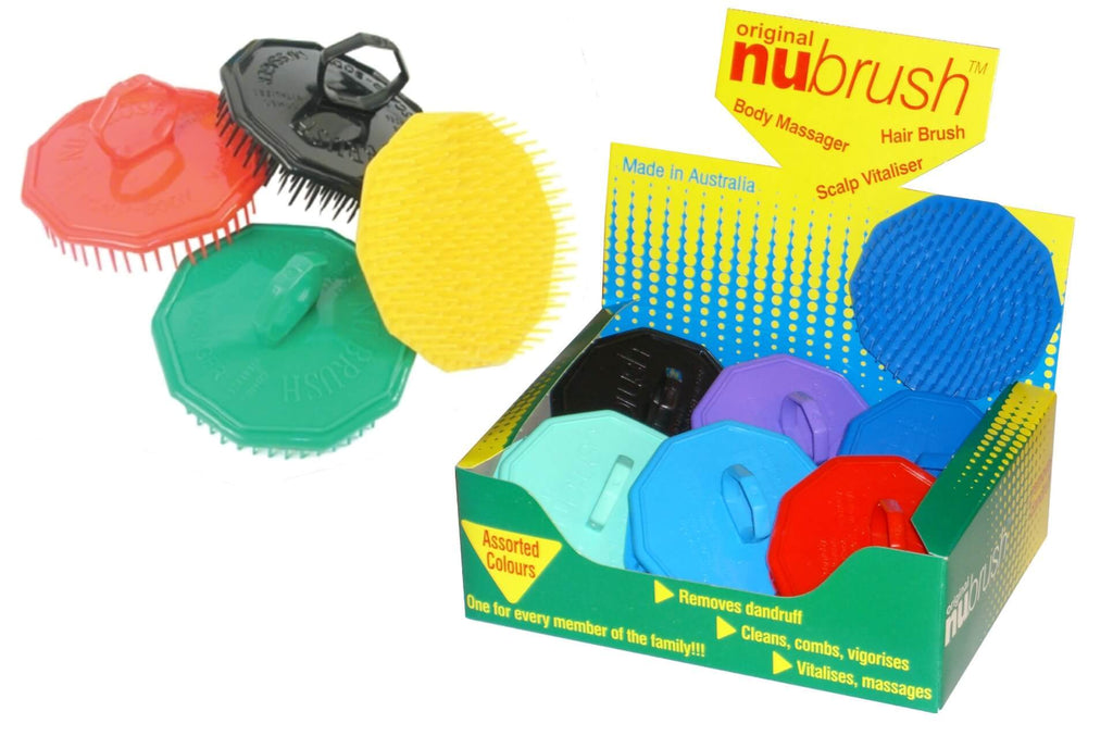 Nu-Brush Scalp Brush Black 12 pack