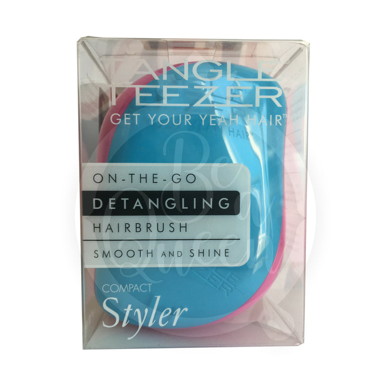 Tangle Teezer Detangling hairbrush. Compact Styler. Blue sunset