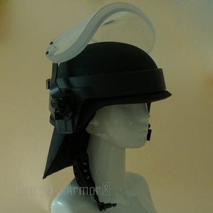 PASGT Military Helmet with Bulletproof Visor Neck Protector NIJ IIIA