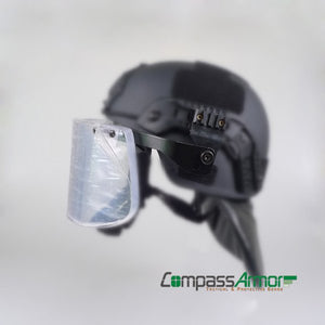 Ballistic Visor detachable for Helmets with Side-rails NIJ IIIA