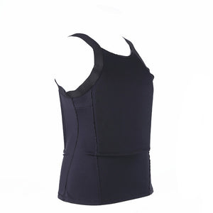 Ultra Thin Bullet Proof Vest T shirt Concealable Kevlar Body Armor NIJ Level IIIA