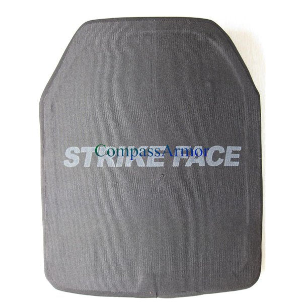 UHMWPE ICW Ceramic Ballistic Plates Single Curve Level III 10X12 inches