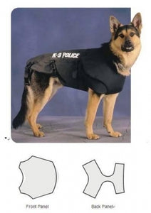 Tactical Molle Bulletproof Vest Harness Canine Black K9 Police Dog NIJ IIIA