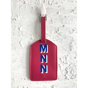 Personalized Luggage Tag - Rose Pink - The Leather Works