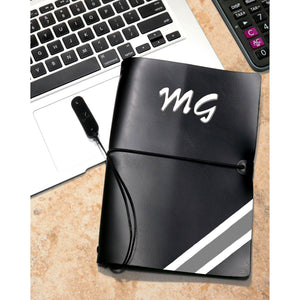 Personalised Executive Diary - Black Noir - The Leather Works