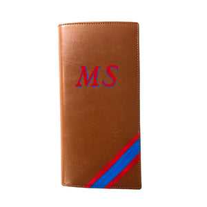 Personalized Executive Travel Wallet - Tan Brown - The Leather Works