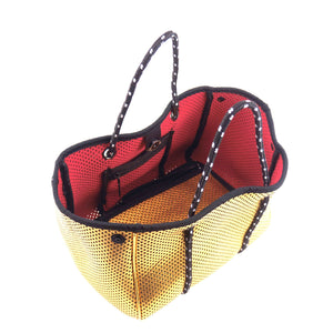SOLD OUT - Reversible Mini Tote Bag in Gold/Red