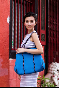 Royal Blue Neoprene Tote Bag