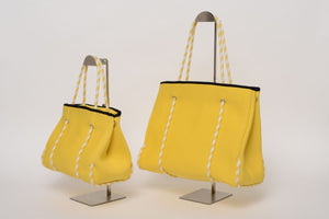 FREQUENCY YELLOW NEOPRENE TOTEBAG